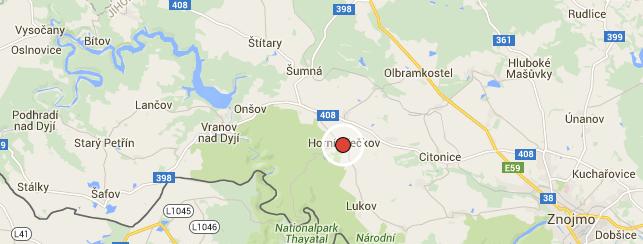 Horní Břečkov na mapě