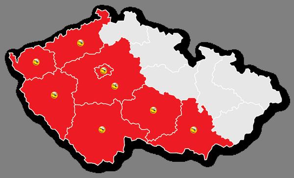 Mapa pokrytí STARNET