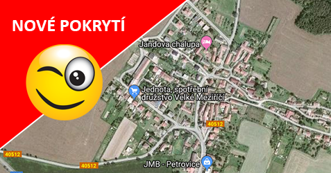 Pokrytí - Petrovice