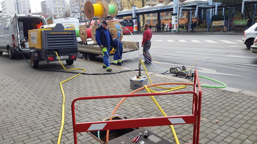 optická síť České Budějovice